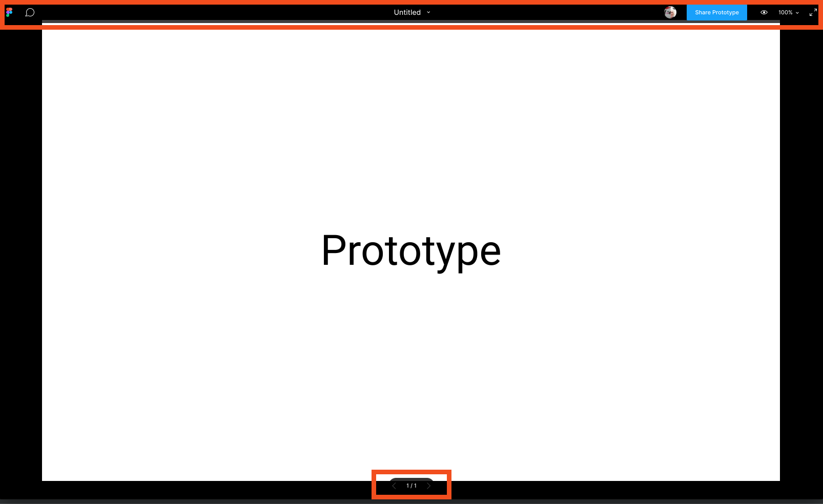 Figma on prototype mode showing the overlay