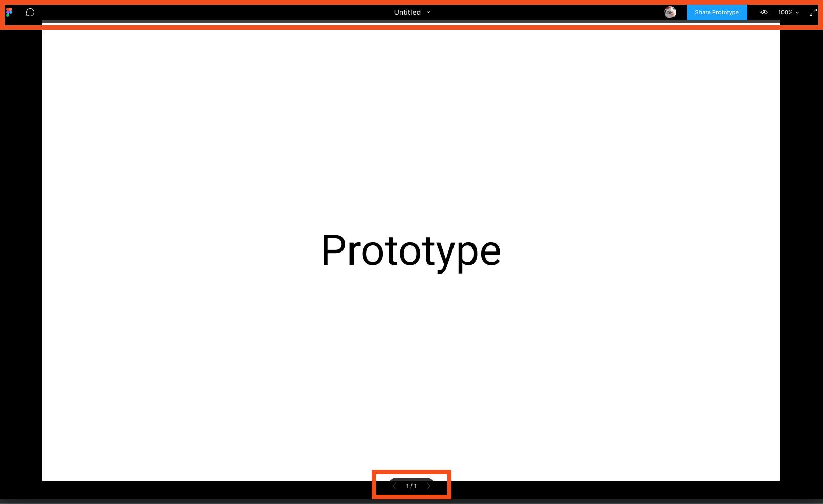 Figma on prototype mode showing the overlay